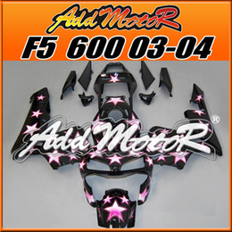 Wholesale Honda Star Fairing - Addmotor Injection Mold Fairing For Honda CBR600RR CBR 600RR 2003 2004 03 04 Black Pink Star Pattern H6336 +5 Free Gifts
