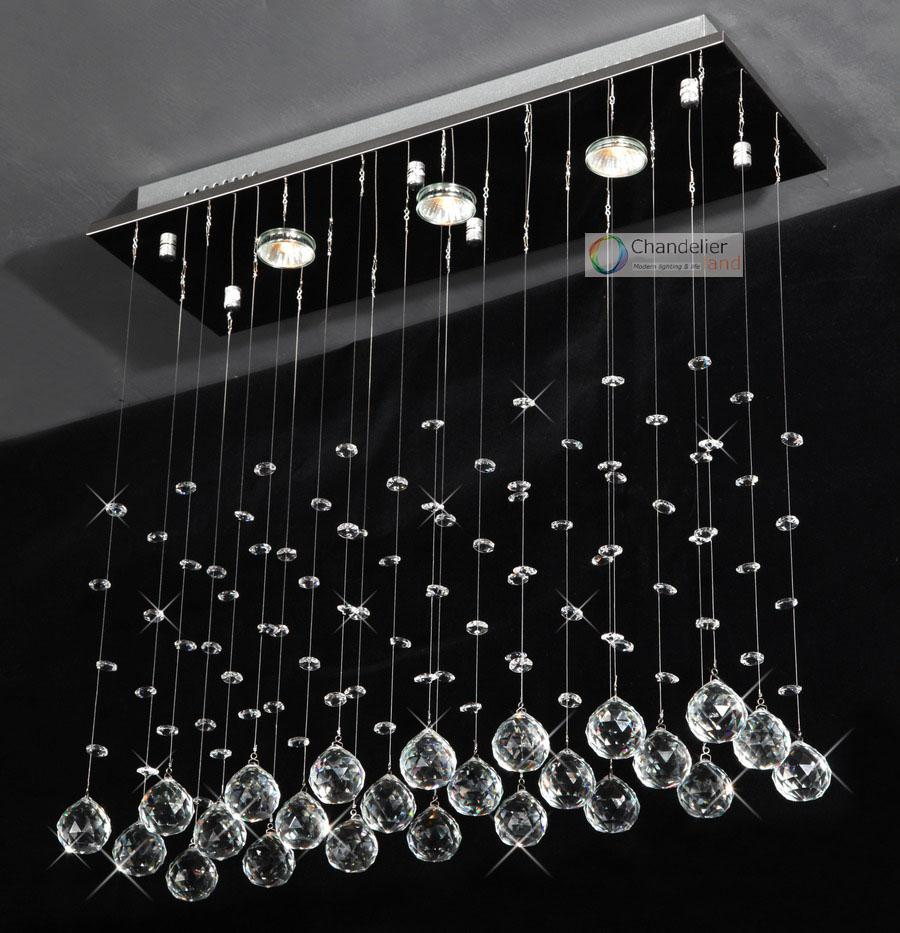 3 lights l24 x w8 x h236 clear rectangle crystal chandelier see larger image arubaitofo Images
