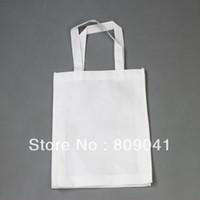 Wholesale Wholesale Sublimation Bags - OP-33*26CM White Sublimation Tote Shoulder Shopping Bag Printable 500pcs lot DHL  fedex free shipping