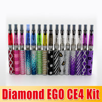 Wholesale Diamond Clearomizer - DHL free !!! Bling Bling Diamond Ego CE4 Kits Crystal Shinning Diamond Battery with CE4 Clearomizer Kit Gift Box waitingyou