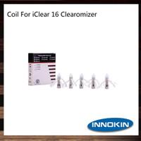 innokin icle 16 bobinler toptan satış-Innokin iClear 16 Çift Bobin Kafa BDC Clearomizer iClear 16 Atomizer Için Yedek Çift Bobin Kafaları 1.5 1.8 2.1 ohm 100% Orijinal