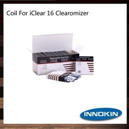 Bobina dupla 1,5 on-line-Innokin iClear 16 bobina cabeça 1.5 1.8 2.1ohm iClear 16 substituição dupla bobina 100% Original