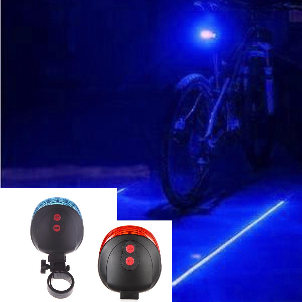 5 LED /& 2 Laser Launcher Bicycle Tail Light Bike Safety LED Light Taillight US