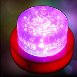 Wholesale Baby Lamp Projector - LED Star Light Star Projector Baby Sleep Light Birthday Cake Love Cupid Heart LED Projector Night Light Hypnotic Lamp Colorful Lamp