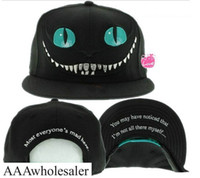 Wholesale Bugs Bunny Hat - New 2014 Alice in Wonderland Cheshire Cat cartoon baseball caps BUGS BUNNY SYLVESTER hats for Men and Women snapback hiphop bboy