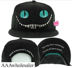 Wholesale Bug Hats - New 2014 Alice in Wonderland Cheshire Cat cartoon baseball caps BUGS BUNNY SYLVESTER hats for Men and Women snapback hiphop bboy