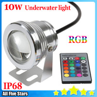 Wholesale Led Lighting For Aquariums - New 10W 12V RGB Aquarium Led Lights Fountain Aquarium Pond Landscape Light IP67 Waterproof Underwater Led light for Pool Free shipping