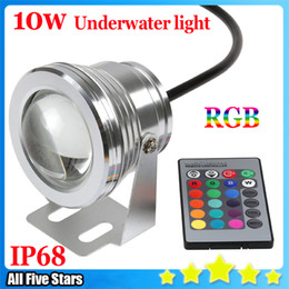 Wholesale Underwater Led Lighting For Fountains - New 10W 12V RGB Aquarium Led Lights Fountain Aquarium Pond Landscape Light IP67 Waterproof Underwater Led light for Pool Free shipping