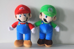 Wholesale Mario Plush Dolls Big - 10inch High Quality Super Mario Soft Plush MARIO LUIGI MARIO BROS PLUSH DOLL
