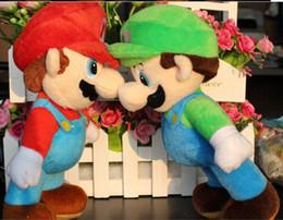 Wholesale Super Mario 23cm - 9inches 23cm NEW SUPER MARIO BROTHERS PLUSH MARIO AND LUIGI DOLLS mario plush toy