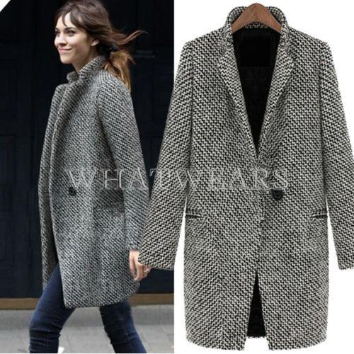Ladies Wool Blend Coats