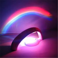Wholesale Rainbow Led Christmas Lights - LED Novelty Lighting Rainbow Lamp Rainbow Projector Light Second-generation LED Rainbow Projector Lamp LED Night Light