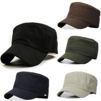 Wholesale Vintage Cadet Hats - Free Shipping Unisex Baseball Caps Classic Plain Vintage Army Hat Cadet Military Patrol Snapback Outdoors Men Hats Sun Shading