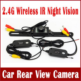Wholesale Park Parking Assistant - 2.4G Wireless Car Reverse Camera Vehicle Rear View Backup Camera Kit Parking Assistant with CMOS 7 IR Leds Night Vision RCA