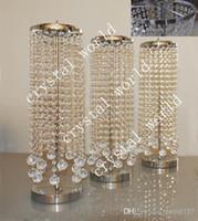 cristaux de lustre à vendre achat en gros de-Vente en vrac Centres de table élégants de lustre de table en cristal pour décorer de mariage