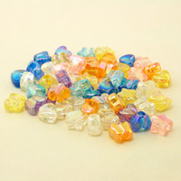 Wholesale Assorted Acrylic Shapes - 1000pcs lot 13mm Heart & Star & Butterfly Mixed Assorted Shapes in Different Assorted Brilliant Colours Big Hole Acrylic Loose DIY Beads for