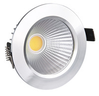 Wholesale decorate lamp led for sale - 2014 New W Led COB Downlights Recessed lamp cool white warm white Dimmable led Ceiling bulbs light For Home Lighting Decorate With Driver