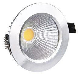 Wholesale Dimmable Cob Led Ceiling Light - 2014 New 9W Led COB Downlights Recessed lamp cool white warm white Dimmable led Ceiling bulbs light For Home Lighting Decorate With Driver