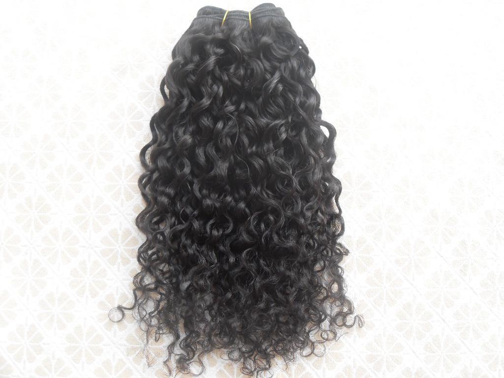 البرازيلي مجعد الشعر لحمة حليقة النسيج النسيج غير المجهزة الطبيعية اللون الأسود يمكن أن يكون مصبوغ 1 قطعة