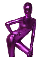 2015 Sexy Fashion Dark Purple Shiny Metallic One Piece Zenta...