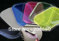 Wholesale Silica Gel Magic - Wholesale - 50pcs lot Powerful Silica Gel Magic Sticky Pad Anti-Slip Non Slip Mat for Car dvr GPS,Free Shipping AAA