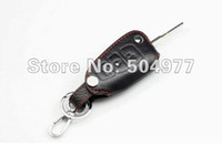 Wholesale Car Accessories Focus - Genuine leather auto key holder case,key bag for Ford focus 2012, ford Kuga, ecosport 2013,auto accessories,free shipping
