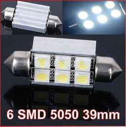 Wholesale Dome Led Plate - 2pcs lots white 12V 31 36 39 mm Canbus Error Free 5050 3 Chip 6SMD 90LM Car Auto Light Bulbs LED Festoon Light Dome Light free shippinng
