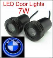Wholesale Laser Logo Car Door Bmw - 2PCS HOT SALE 4th Car Door Light for bmw 7W Car Door Welcome Light Laser Lights with car logo Shadow light