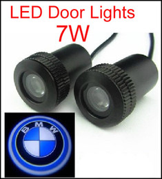 Wholesale Welcome Light Bmw - 2PCS HOT SALE 4th Car Door Light for bmw 7W Car Door Welcome Light Laser Lights with car logo Shadow light