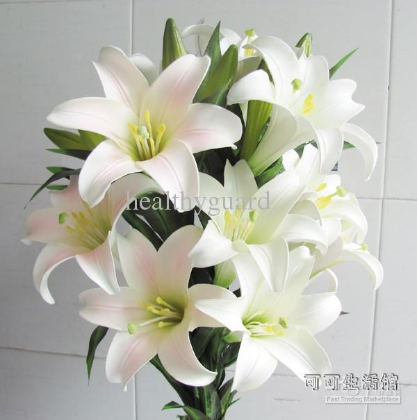 97CM 38INCH long Real touch Artificial Silk lily flower Simulation flower beautiful flower home wedding birthday party decor