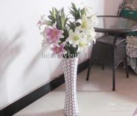 lindas flores de toque real venda por atacado-97 CM de 38 polegadas de comprimento toque Real flor de lírio de seda artificial simulação flor bonita casa de casamento festa de aniversário decoração 4 cor