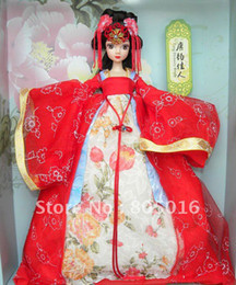 Wholesale Chinese Costume Tang Dynasty - Wholesale-29CM Tall Tang Dynasty Bride Kurhn Bobby Doll With Chinese Ancient costumes, Joint Body Model Toy