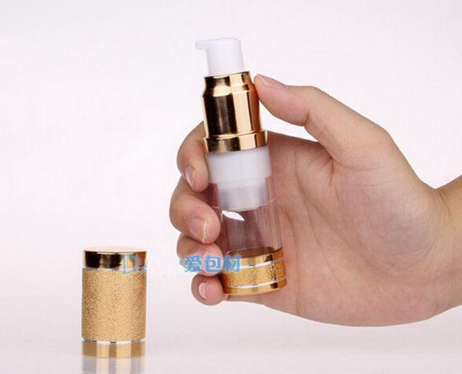 Wholesale OEM 15ml /0.5oz Empty refillable Airless Lotion Treatment Pump Cosmetic Dispensing Bottles lotions, liquid PB184