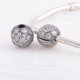 sterling silver european stoppers UK - 925 Sterling Silver pandora bracelets beads jewelry Cosmic Stars Clip stopper crystal bead Charm ,Fit DIY European Charm Bracelet for women
