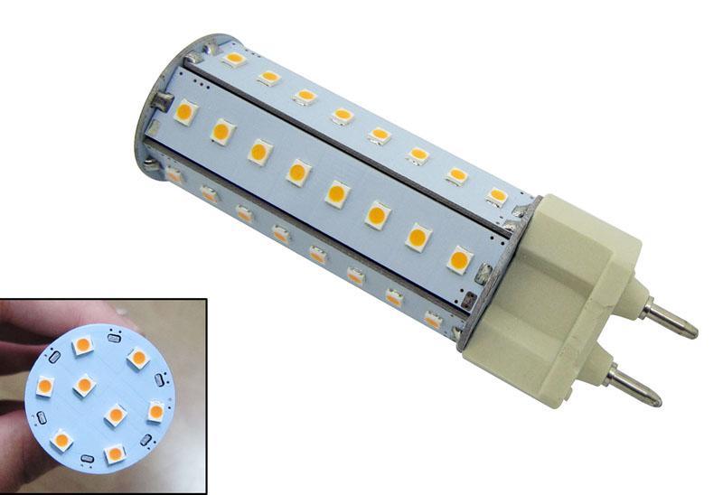 Бесплатная доставка 8W G12 водить мозоли света шарика 2835 SMD холодный белый / теплый белый / чисто белый свет AC100-240V