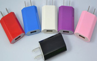 Wholesale iphone4 chargers - Brand New Colorful EU US Wall Charger For iPhone4 4S 5S for Samsung i9300 i9500