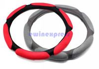 Wholesale Types Steering Wheel Covers - 2X Anti-slip General Car Suede Fabric Steering Wheel Cover Four Seasons Fashion Type Cap Free Shipping