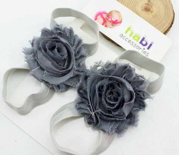 Toddler bambino sandali in chiffon fiore scarpe copertura a piedi nudi fiore cravatte infantili bambini ragazza bambini primi camminatori scarpe fotografia puntelli
