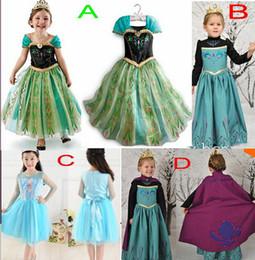 Wholesale Korean Tutu Dress For Kids - New Korean Frozen Dress Elsa & Anna Summer Dress For Girl Princess Dresses Brand Girls Dress Children Clothing Kids Wear