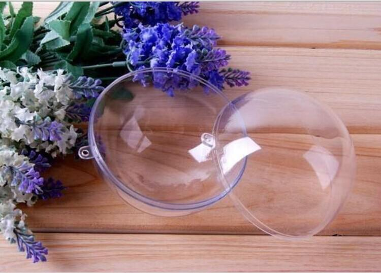 New Arrival 8cm Clear Plastic Ball Candy Box Christmas Ornament Decoration Ball For Baby Shower Wedding Supplies