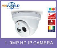 Wholesale Ip Camera Poe Mega - Surveilliance IP camera 1.0 Mega Pixel ONVIF mini hikvision case plastic dome IP camera IR CUT array led with POE Optional P2P plug and play