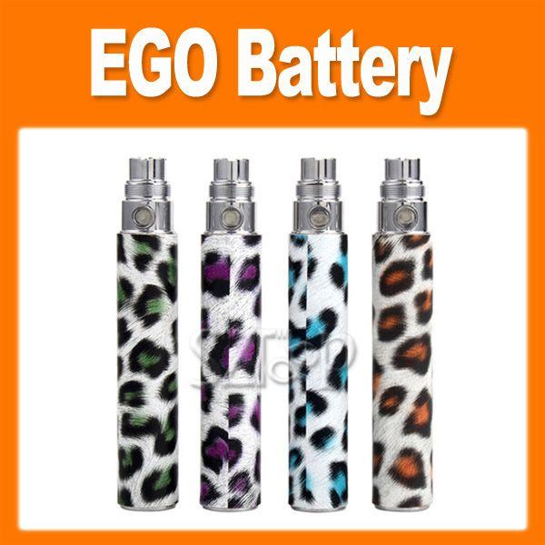 leopard print electronic cigarette E Cigarette eGo battery 650mah 900mah 2200mah for ego series CE4 CE5 VIVI Nova atomizer 0204022