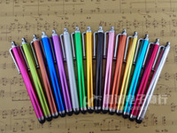 Wholesale pc smart touch - 4.33inch Metal Universal Capacitive Touch Screen Stylus Pen for Smart phone tablet pc 2000pcs lot