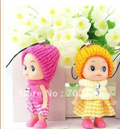 Wholesale Cheap Boy Dolls - Wholesale-Free Shipping,Free shipping. cheap lovely Cute mini creative personality children 's girl's pendants Doll , kids toys gifts