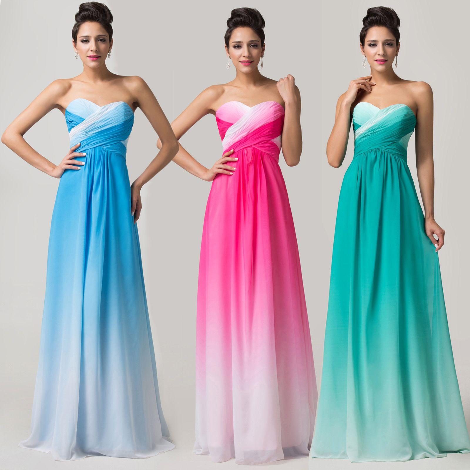 Compre Gracia Karin Diseñador 2014 Vestidos De Noche Colorido De La ...