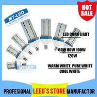 Wholesale E27 Lamp Led Super Bright - Super Bright Led corn bulb E27 E40 60W 80W 100W 120W Led Corn Light 360 Angle SMD 2835 Led lamp lighting AC 85V-265V
