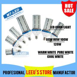 Wholesale Super Bright White Led E27 - Super Bright Led corn bulb E27 E40 60W 80W 100W 120W Led Corn Light 360 Angle SMD 2835 Led lamp lighting AC 85V-265V