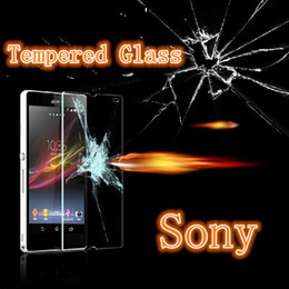 Wholesale Xperia Z L36h - Sony Xperia Z L36H Z1 L39H Z2 Z3 Z4 Tempered Glass Screen Protector Explosion Proof 2.5D Arc 9H 0.2MM Super Clear High Quality Free Shipping