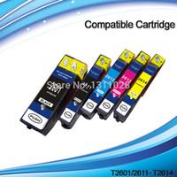 Wholesale Epson Xp - 5PK 1 SET T2601 T2611 T2612 T2613 T2614 compatible ink cartridge for XP-600 XP-605 XP-700 XP-800 XP-810 XP-710 XP-615 XP-610