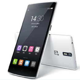 Wholesale Dual Sim Air Gesture - Oneplus One 1+ 5.5'' Snapdragon 801 Quad Core FDD LTE Cell Phones 3G+64G FHD 1920*1080P Screen 13.0MP NFC GPS Bluetooth DHL EMS Free